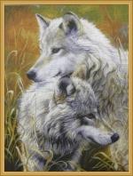 Farkasok. A gobelin minta fotója